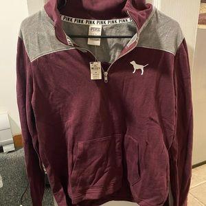 Pink by Victoria's Secret 1/4 zip sweatshirt